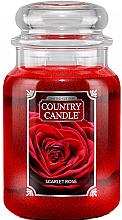 Voňavky, Parfémy, kozmetika Vonná sviečka v pohári  - Country Candle Scarlet Rose