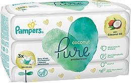 Voňavky, Parfémy, kozmetika Detské vlhčené utierky, 3x42 ks - Pampers Pure Coconut