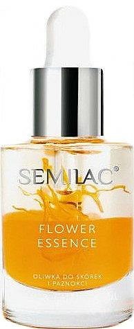 Ochranný olej na nechty a kutikuly s olejom z broskyňových kôstok - Semilac Flower Essence Orange Strength