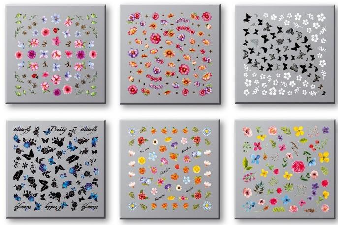 Sada nálepiek na nechty 42751 - Top Choice Nail Decorations Stickers Set