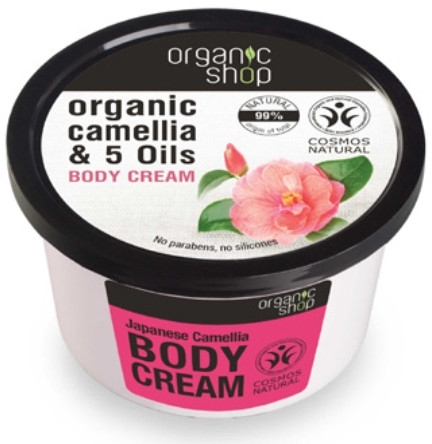 "Krém na telo ""Japonská kamélia"" - Organic Shop Body Cream Organic Camellia & Oils"