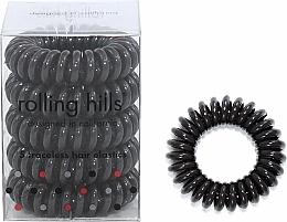 Voňavky, Parfémy, kozmetika Gumička-náramok do vlasov, tmavohnedá - Rolling Hills 5 Traceless Hair Rings Dark Brown