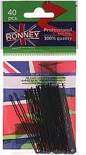 Voňavky, Parfémy, kozmetika Čierne vlnité sponky 65 mm, 40 ks. - Ronney Black Small Set Of Hair Pins