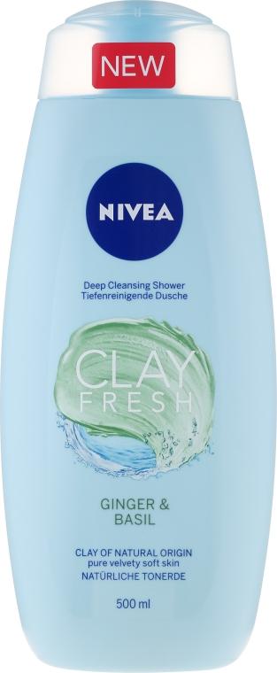 Sprchový gél s ílom - Nivea Clay Fresh Ginger & Basil — Obrázky N1