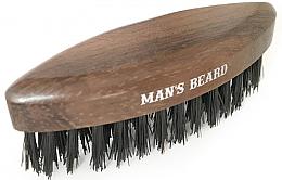 Voňavky, Parfémy, kozmetika Drevená cestovná kefa na bradu - Man'S Beard Travel Beard Brush Without Wooden Handle