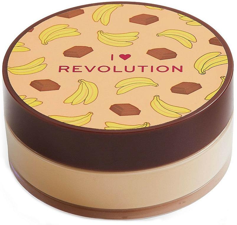 Sypký púder na tvár čokoládovo-banánový - I Heart Revolution Loose Baking Powder Chocolate Banana