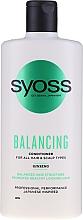 Voňavky, Parfémy, kozmetika Balzam so ženšenom pre všetky typy vlasov a pokožky hlavy - Syoss Balancing Ginseng Conditioner