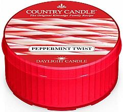 "Voňavky, Parfémy, kozmetika Čajová sviečka ""Peppermint twist"" - Country Candle Peppermint Twist Daylight"