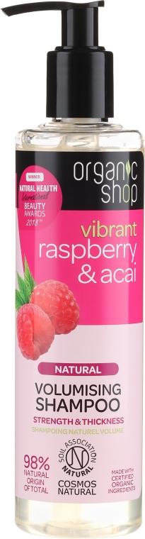 Šampón na vlasy - Organic Shop Raspberry & Acai Volumising Shampoo