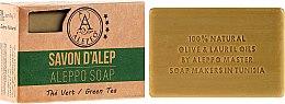 """Voňavky, Parfémy, kozmetika Alepské mydlo """"Zelený čaj"""" - Alepeo Aleppo Soap Green Tea 8%"""