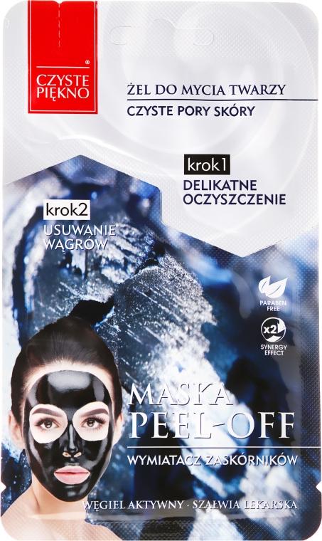 """Maska pre tvár """"Gél na umývanie + exfoliačná maska"""" - Czyste Piekno Peel Off Mask"""