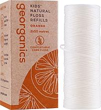 Voňavky, Parfémy, kozmetika Zubná niť, 2x50 m - Georganics Natural Sweet Orange Dental Floss (vymeniteľná jednotka)