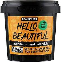 """Voňavky, Parfémy, kozmetika Sprchový gél pre citlivú pokožku """"Hello, Beautiful"""" - Beauty Jar Gentle Shover Gel"""