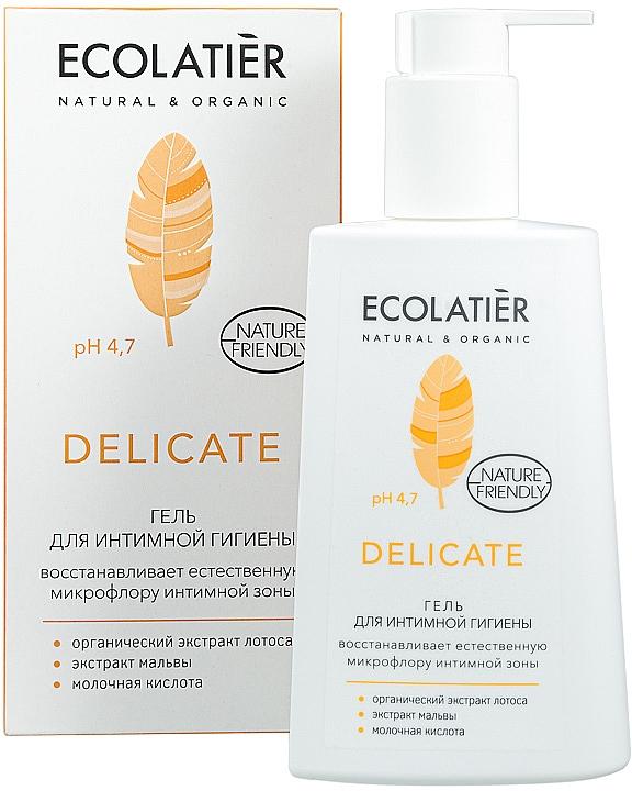 Gél na intímnu hygienu s organickým extraktom lotosu - Ecolatier Delicate — Obrázky N1