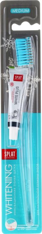 Zubná kefka, strednej tvrdosti, svetlomodrá + mini pasta - SPLAT Whitening Medium — Obrázky N1