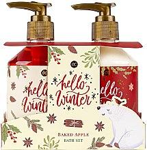 Voňavky, Parfémy, kozmetika Sada - Accentra Hello Winter Baked Apple Bath Set (sh/gel/250ml + lot/250ml)