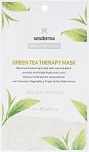 Voňavky, Parfémy, kozmetika Hydratačná maska so zeleným čajom - SesDerma Laboratories Beauty Treats Green Tea Therapy Mask