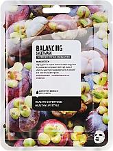 "Voňavky, Parfémy, kozmetika Textilná maska na tvár ""Mangostan"" - Superfood For Skin Balancing Sheet Mask"
