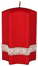 """Voňavky, Parfémy, kozmetika Dekoratívna sviečka """"Hviezda"""", červená, 9x14cm - Artman Crystal Opal Pearl"""