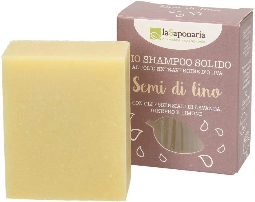 """Tvrdý šampón """"Ľanové semená"""" - La Saponaria Hair Soap With Linseed Oil"""