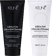 Voňavky, Parfémy, kozmetika Liečivý systém na keratínové narovnanie vlasov - Keune Keratin Straightening Rebonding System Normal