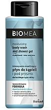 Hydratačný lotion do kúpeľa a sprchy - Farmona Biomea Moisturizing And Shower Gel — Obrázky N1