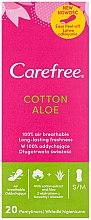 Voňavky, Parfémy, kozmetika Hygienické denné vložky s výťažkom z aloe, 20ks - Carefree Cotton Aloe