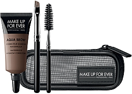 Voňavky, Parfémy, kozmetika Sada - Make Up For Ever Aqua Brow Eyebrow Corrector Kit (corrector/7ml+brush/2pcs+bag) (15 -Light Brown)