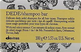 Voňavky, Parfémy, kozmetika Jemný tuhý šampón na každodenné použitie pre všetky typy vlasov - Davines Shampoo Bar