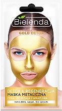 Voňavky, Parfémy, kozmetika Detox maska pre zrelú a citlivú pokožku - Bielenda Gold Detox Metallic Mask