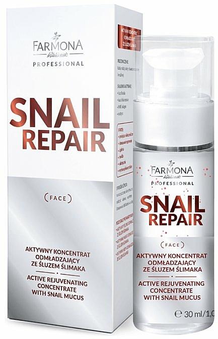 Aktívny omladzujúci koncentrát so slimačím slizom - Farmona Professional Snail Repair Active Rejuvenating Concentrate With Snail Mucus