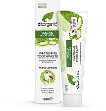 """Voňavky, Parfémy, kozmetika Zubná pasta """"Aloe Vera"""" - Dr. Organic Aloe Vera Whitening Toothpaste"""