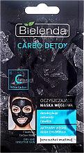 Voňavky, Parfémy, kozmetika Uhoľná čistiaca maska pre suchú pleť - Bielenda Carbo Detox Cleansing Mask Dry and Sensitive Skin