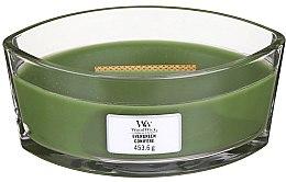 Voňavky, Parfémy, kozmetika Vonná sviečka v pohári - Woodwick Hearthwick Flame Ellipse Candle Evergreen