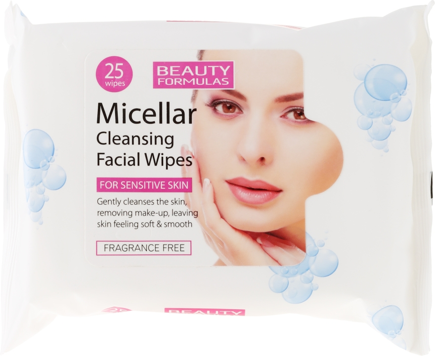 Čistiace micelárne obrúsky - Beauty Formulas Micellar Cleansing Facial Wipes
