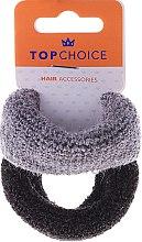Voňavky, Parfémy, kozmetika Gumičky do vlasov, tlsté 2 ks, čierna a šedá - Top Choice