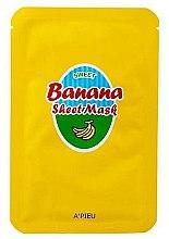 Voňavky, Parfémy, kozmetika Výživná maska s extraktom z banánu a medu - A'Pieu Sweet Banana Sheet Mask