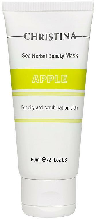 Jablková maska pre mastnú a kombinovanú pleť - Christina Sea Herbal Beauty Mask Green Apple