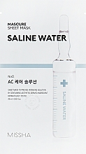 Voňavky, Parfémy, kozmetika Hydratačná pleťová maska s extraktom zo slanej vody - Missha Mascure AC Care Solution Sheet Mask Saline Water