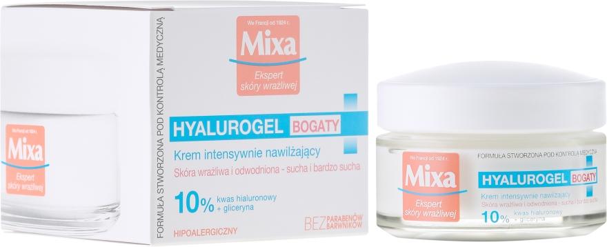 Zvlhčujúci krém pre tvár - Mixa Hyalurogel Moisturizing Face Cream