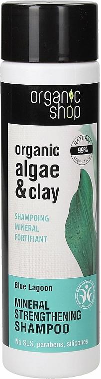 """Šampón na vlasy """"Posilnenie. Modrá lagúna"""" - Organic Shop Organic Algae and Clay Mineral Shampoo — Obrázky N1"""
