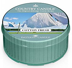 Voňavky, Parfémy, kozmetika Čajová sviečka - Country Candle Cotton Fresh Daylight