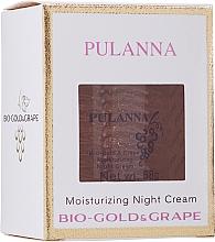 Voňavky, Parfémy, kozmetika Hydratačný nočný krém na tvár s biozlatom a extraktom z hrozna - Pulanna Bio-Gold & Grape Moisturizing Night Cream