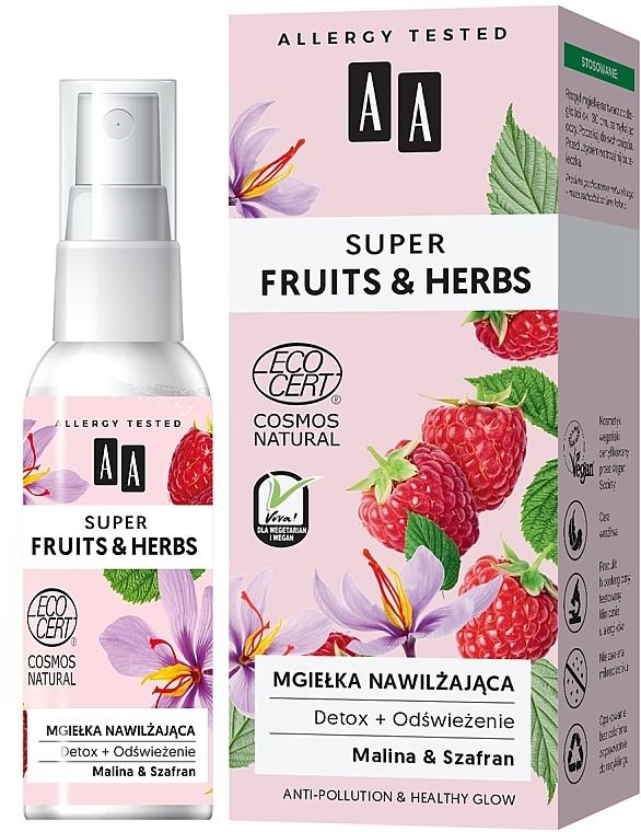 Hydratačná hmla na tvár - AA Super Fruits & Herbs