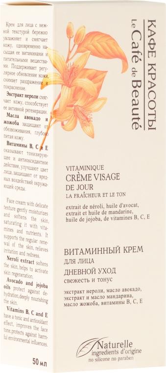 """Vitamínový denný krém """"Čerstvosť a tón"""" - Le Cafe de Beaute Vitamin Cream Visage"""