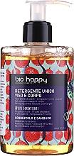 """Voňavky, Parfémy, kozmetika Gél na tvár a telo """"Jahodovec a baza"""" - Bio Happy Arbutus & Elderberry Face & Body Wash"""