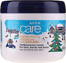 Voňavky, Parfémy, kozmetika Hydratačný krém na tvár a telo s avokádovým olejom - Avon Care Cristmas Collection Replenishing Moisture With Avocado Multipurpose Cream For Face, Hands And Body