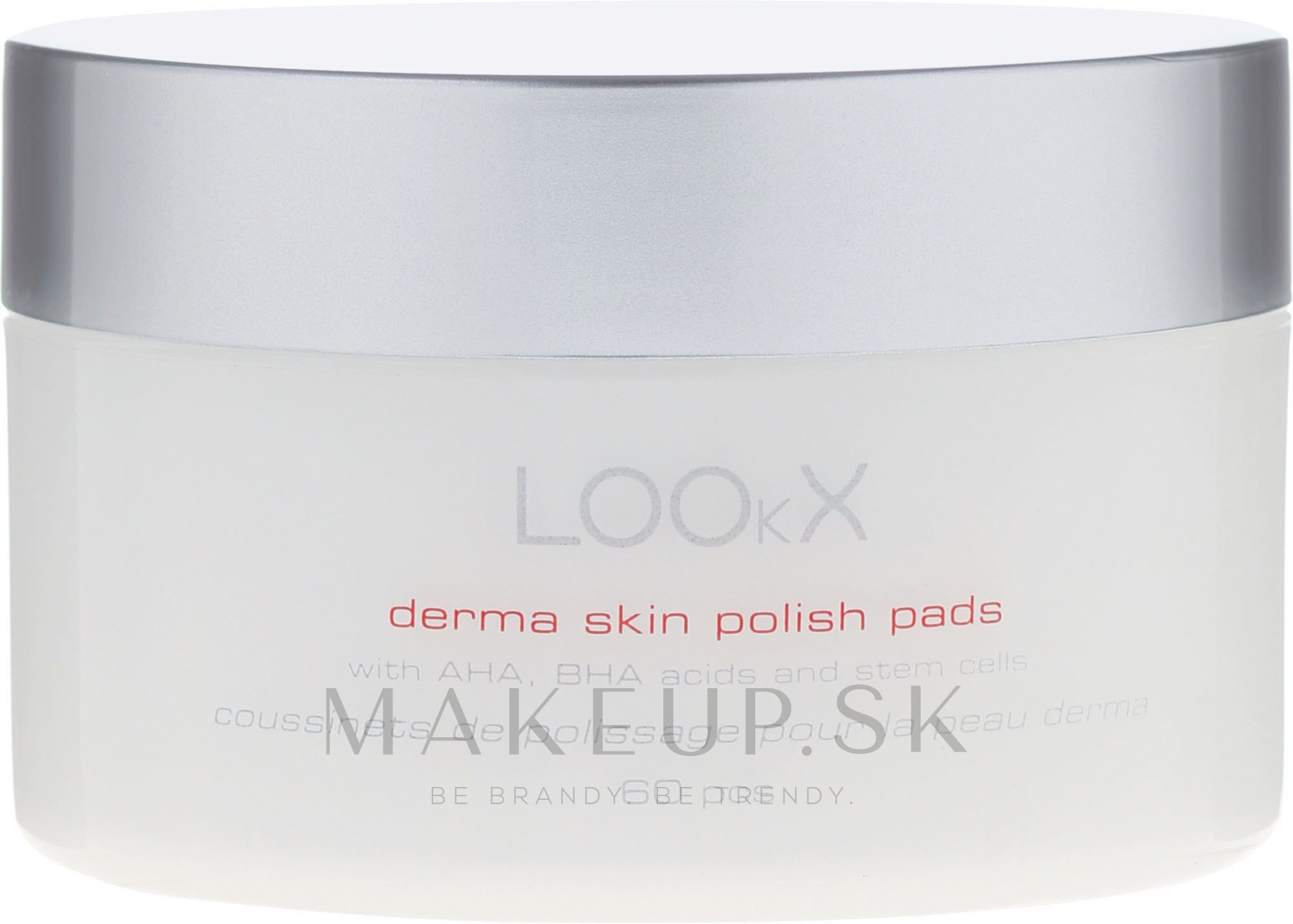 Vankúšiky na pokožku s AHA, BHA kyselinami - LOOkX Derma Skin Polish Pads — Obrázky 60 ks.