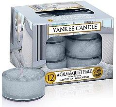 Voňavky, Parfémy, kozmetika Čajové sviečky - Yankee Candle Scented Tea Light Candles A Calm & Quiet Place