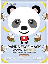 """Voňavky, Parfémy, kozmetika Textilná maska na tvár """"Panda"""" s banánovým a kokosovým extraktom - 7th Heaven Face Food Panda Face Mask Coconut & Banana"""